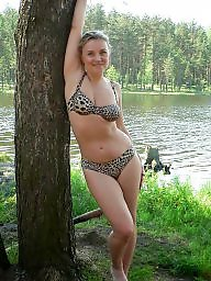Downblouse, Bikini, Mature dress, Mature dressed, Mature bikini, Underwear
