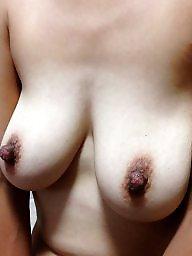 Saggy, Saggy tits, Hard nipple, My wife, Big nipples, Wifes tits