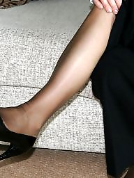 Pantyhose, Wife, Pantyhose feet, Tight, Stocking feet, Amateur pantyhose