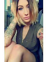 Tattoo, Thin, Blond