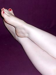 Feet, Stocking feet, Milf amateur, Amateur feet