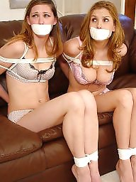 Bondage, Gagged, Bound, Girl, Stockings teens