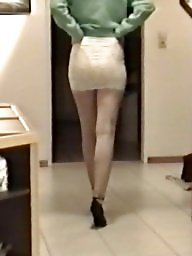 Skirt, Lace, Tight, Slutty, Skirts, Voyeur tits