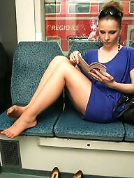 Nylon, Train, Leggings, Legs stockings, Leg, Training