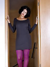 Tease, Teasing, Tight, Purple, Tights, Stockings tease