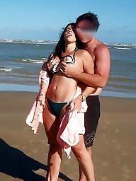 Brazilian, Nude beach, Beach, Voyeur beach, Beach voyeur, Milf nude