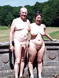 Nudist, Nudists, Public, Couple, Couples, Mature couple