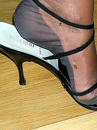 Nylon feet, Feet, Nylons, Nylon, Heels, Mature stocking