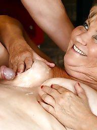 Granny, Sperm, Mature creampie, Creampies