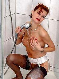 Shower, Redhead, Lady, Ladies