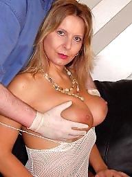 Blonde milf, Fingered