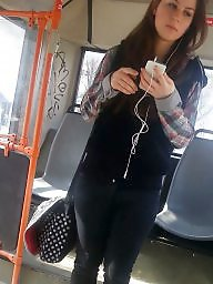 Bus, Sexy, Romanian, Teen spy, Spy cam