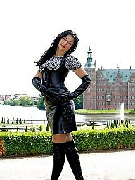 Latex, Pvc, Boots, Leather, Mature pvc, Mature leather