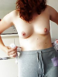 Small tits, Bush, Small, Perky, Hairy bush, Hairy wife