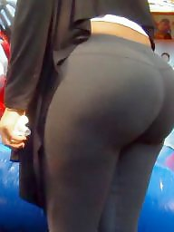 Spandex, Candid, Huge ass, Candid ass, Latinas, Huge