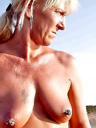 Naked milf, Beach milf
