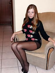 Nylon, Dress, Dressed, High heels, Legs stockings
