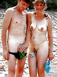Nudist, Nudists, Beach, Couple, Mature couples, Couples