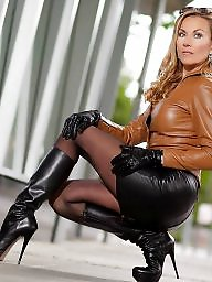 Leather, Skirt, Tight skirt, Leather skirt