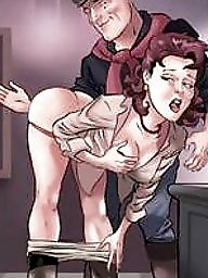 Spanking, Spank, Bdsm cartoons, Spanked, Women, Bdsm cartoon