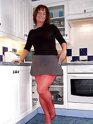 Kitchen, Sexy mature, Mature posing, Posing, Pose, Stocking milf