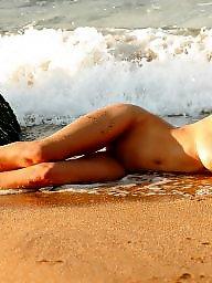 Beach, Blowjobs, Brunette