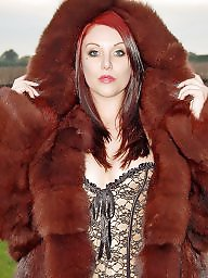 Lady, Fur, Coat