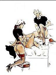 Pussy, Ass pussy, Femdom cartoon