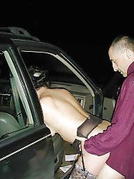 Car, Whores, Exhibitionist, Public mature, Slut wife, Mature public
