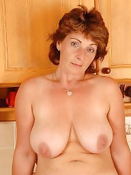 Milf, Kitchen, Hairy mature, Mature posing, Mature boobs, Big hairy