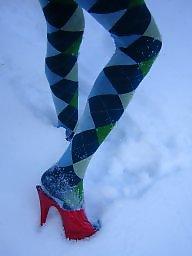 Heels, Stockings heels, Snow