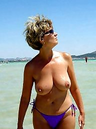 Vacation, Public beach, Beach milf