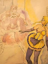 Femdom bdsm, Femdom cartoons, Bdsm cartoon, Punish, Punished