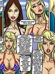 Interracial cartoon, Interracial, Groups, Group sex
