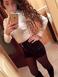 Italian, Italian teen, Italian amateur, Teen stockings