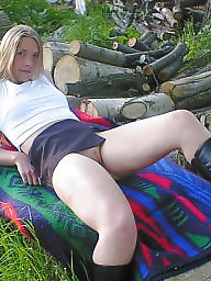 Public, Outdoor, Lady, Posing, Outdoors, Public nudity