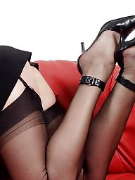 Vintage, Stockings, Older, Lady, Mature lady, Ladies