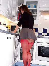 Kitchen, Mature stocking, Milf stockings, Posing, Sexy stockings, Mature sexy