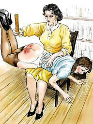 Bdsm cartoon, Spanking, Art, Spank, Bdsm art, Bdsm cartoons