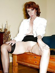 Shaved, Shaved mature, Mature stockings, Classy, Mature stocking, Amateur