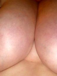 Wife, Bbw tits, A bra, Wifes tits