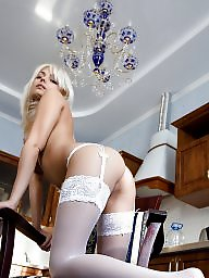 Teen stockings, Teen blonde