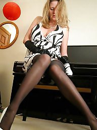 Stockings, Nylons, Mature nylon, Nylon mature, Voluptuous, Ladies