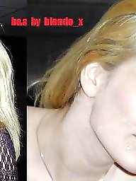 Blonde milf, Before and after, Before