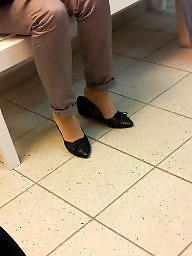 Shoes, Flat, Candid, Hidden, Shoe, Hidden cam