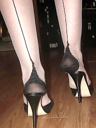 Nylon feet, Heels, Mature nylon, Mature feet, Mature heels, Nylon mature