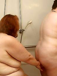 Lesbian, Lesbians, Shy, Shower, Bbw lesbian