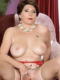 Stocking, Stocking mature, Mature boob, Big matures, Big boob mature
