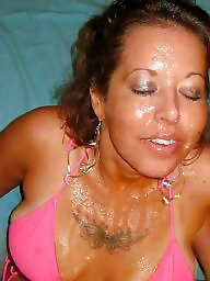 Bbw, Facial, Facials, Face, Faces, Cummed