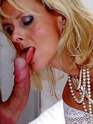 Satin, Mature facial, Facials, Mature facials, White, Stockings mature